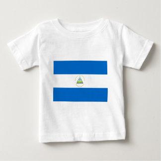 Camiseta Para Bebê Baixo custo! Bandeira de Nicarágua