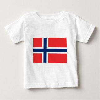 Camiseta Para Bebê Baixo custo! Bandeira de Noruega