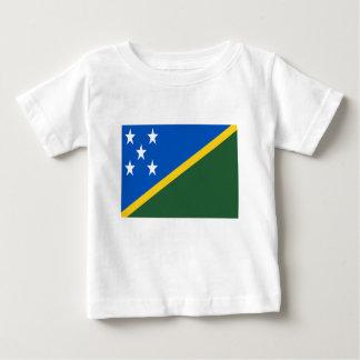 Camiseta Para Bebê Baixo custo! Bandeira de Solomon Island