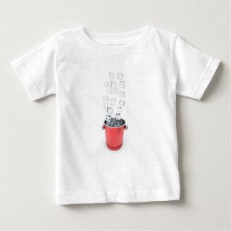 Camiseta Para Bebê Balde de gelo