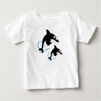 Camiseta Para Bebê baleias