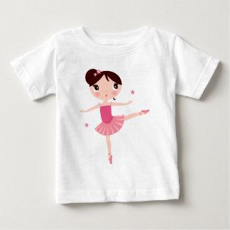 Camiseta Para Bebê Balerina cor-de-rosa pintado mão surpreendente