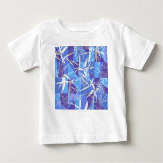Camiseta Para Bebê Bambu no teste padrão geométrico azul