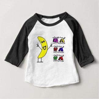 Camiseta Para Bebê Banana feliz