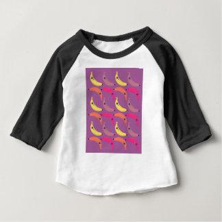 Camiseta Para Bebê Bananas do design no rosa