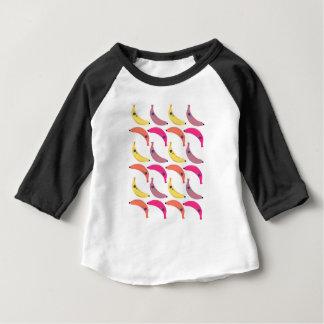 Camiseta Para Bebê Bananas exóticas do design no branco