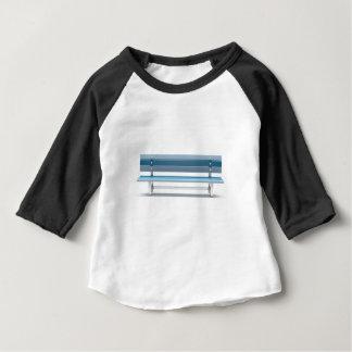 Camiseta Para Bebê Banco azul