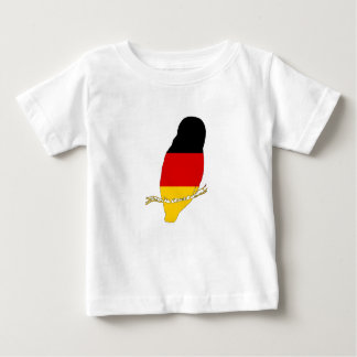 Camiseta Para Bebê Bandeira alemão - coruja