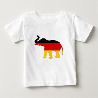 Camiseta Para Bebê Bandeira alemão - elefante