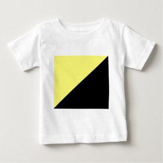 Camiseta Para Bebê Bandeira amarela & preta do capitalismo de Anarcho