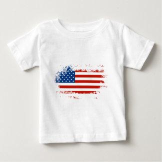 Camiseta Para Bebê Bandeira americana afligida