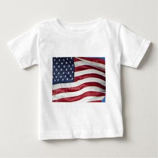 Camiseta Para Bebê Bandeira americana, azul branco vermelho da