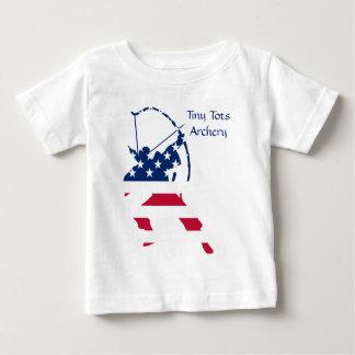 Camiseta Para Bebê Bandeira americana do arqueiro do tiro ao arco dos