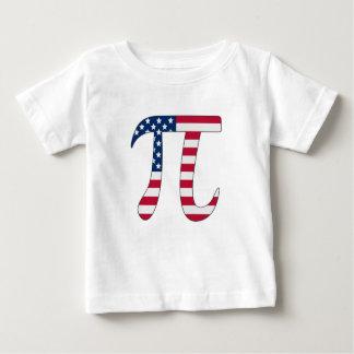 Camiseta Para Bebê Bandeira americana do dia do Pi, símbolo do pi