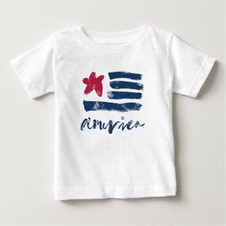 Camiseta Para Bebê Bandeira americana Paintstrokes