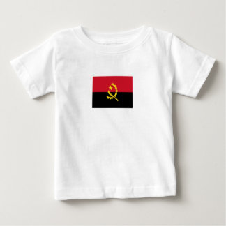 Camiseta Para Bebê Bandeira angolana patriótica