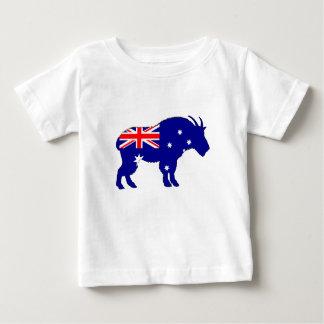 Camiseta Para Bebê Bandeira australiana - cabra de montanha