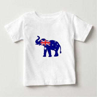 Camiseta Para Bebê Bandeira australiana - elefante
