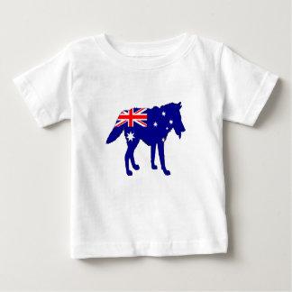 Camiseta Para Bebê Bandeira australiana - lobo