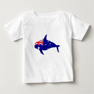 Camiseta Para Bebê Bandeira australiana - orca do Grampus da baleia