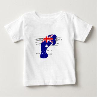 Camiseta Para Bebê Bandeira australiana - peixe-boi