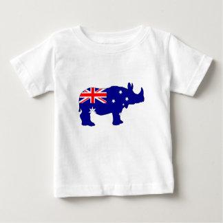 Camiseta Para Bebê Bandeira australiana - rinoceronte