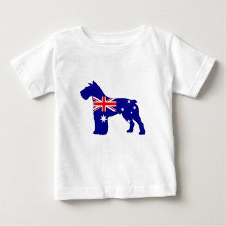 Camiseta Para Bebê Bandeira australiana - Schnauzer