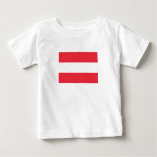Camiseta Para Bebê Bandeira austríaca patriótica