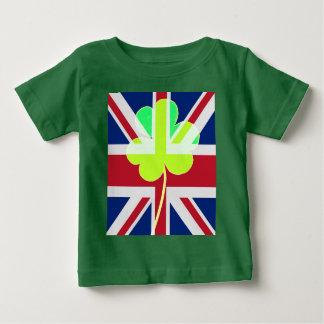 Camiseta Para Bebê Bandeira BRITÂNICA Ireland do trevo do trevo de St