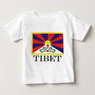 Camiseta Para Bebê Bandeira da bandeira do leão de Tibet ou de neve