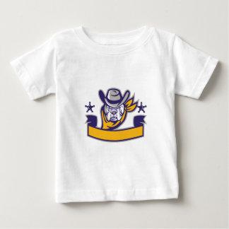 Camiseta Para Bebê Bandeira da cabeça do vaqueiro do xerife do