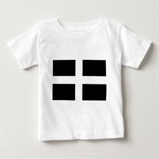 Camiseta Para Bebê Bandeira da Cornualha de Piran Cornish do santo -