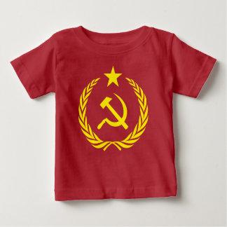 Camiseta Para Bebê Bandeira da guerra fria de Communiste