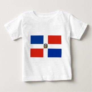 Camiseta Para Bebê Bandeira da República Dominicana