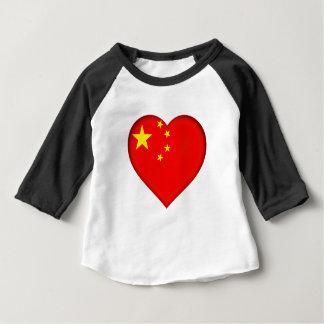 Camiseta Para Bebê Bandeira da República Popular China