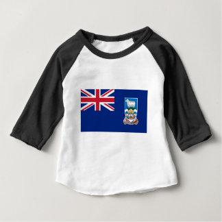 Camiseta Para Bebê Bandeira das Ilhas Falkland - Union Jack