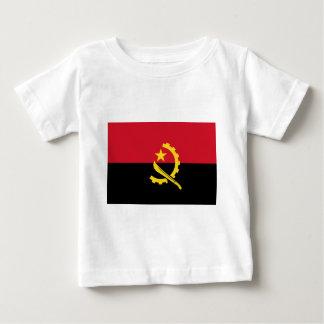 Camiseta Para Bebê Bandeira de Angola - Bandeira de Angola
