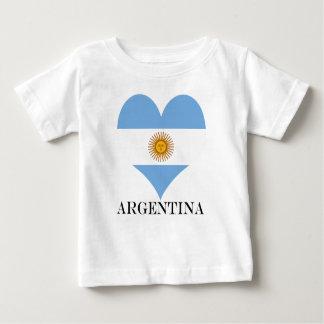 Camiseta Para Bebê Bandeira de Argentina