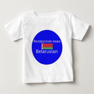 Camiseta Para Bebê Bandeira de Belarus e design da língua