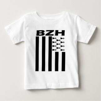 Camiseta Para Bebê Bandeira de Brittany