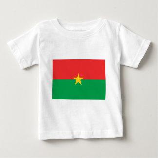 Camiseta Para Bebê Bandeira de Burkina Faso - Drapeau du Burkina Faso