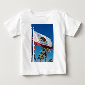 Camiseta Para Bebê Bandeira de Califórnia