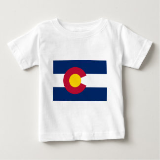 Camiseta Para Bebê Bandeira de Colorado