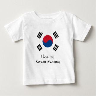 Camiseta Para Bebê Bandeira de Coreia do Sul