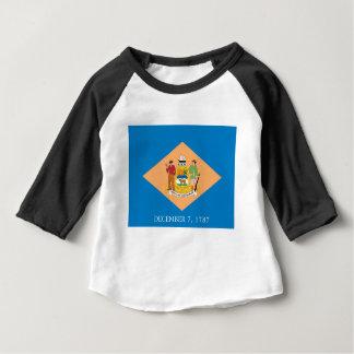 Camiseta Para Bebê Bandeira de Delaware