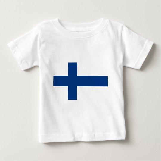 Camiseta Para Bebê Bandeira de Finlandia (lippu de Suomen, flagga de