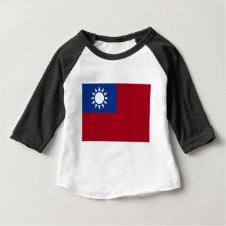 Camiseta Para Bebê Bandeira de Formosa a República da China