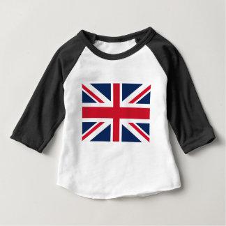 Camiseta Para Bebê Bandeira de Inglaterra