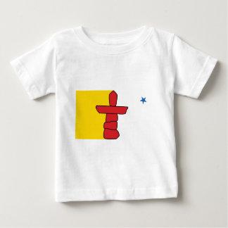 Camiseta Para Bebê Bandeira de Nunavut