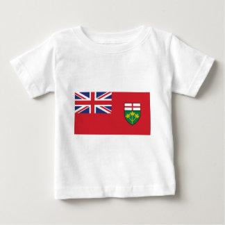 Camiseta Para Bebê Bandeira de Ontário